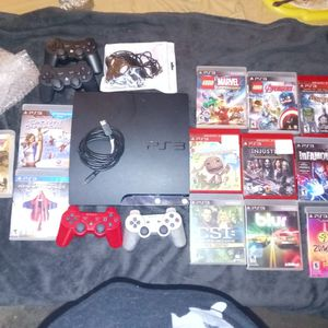 PS3 with Controllers And 12 Games for Sale in Bartow, FL