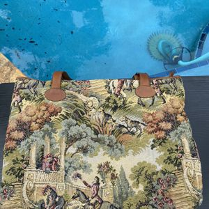 Authentic Vintage Rare Casleigh II Tapestry Needlepoint and Leather Tote Bag USA for Sale in Boca Raton, FL