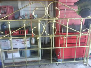 Brass plated bed frame queen size for Sale in Clayton, NY