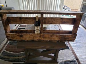 Reclaimed wood , 10 Bottle wine bottle rack for Sale in Santa Clarita, CA