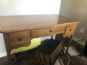 Solid wood desk vanity for Sale in Modesto, CA