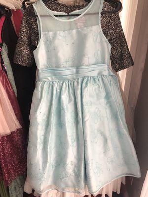 Flower girl wedding light blue dress girls 16 for Sale in Naperville, IL
