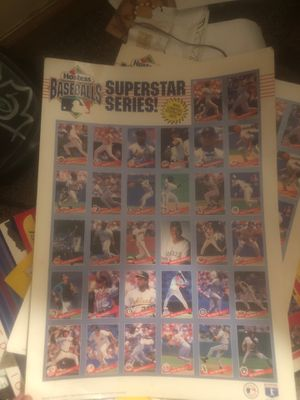 Uncut 1993 Superstar series baseball cards for Sale in Monroe, OH