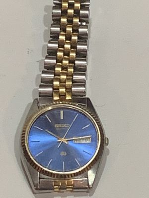 Seiko gold face men's watch silver and gold band for Sale in Scottsdale, AZ
