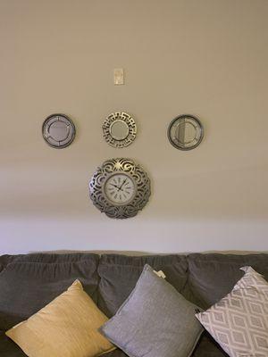 Mirror set + wall clock for Sale in Nashville, TN