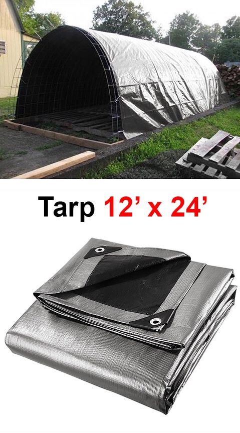 New $25 Heavy Duty 12'x24' 10mil Canopy Poly Tarp Reinforced Tent Car Boat Cover Tarpaulin