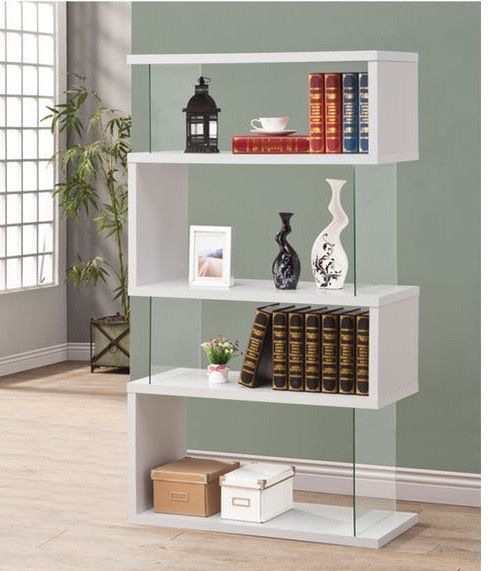 BOOKCASE WHITE & CLEAR
