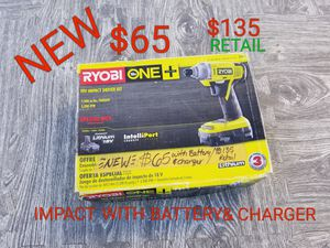 brand new ryobi impact drill driver with battery and charger for Sale in Littlerock, CA