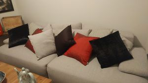 Comfy sofa and throw pillows for Sale in Coraopolis, PA