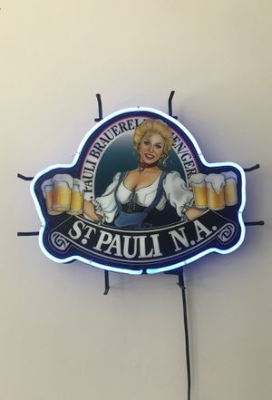St Pauli Girl Neon Sign for Sale in Hermon, ME