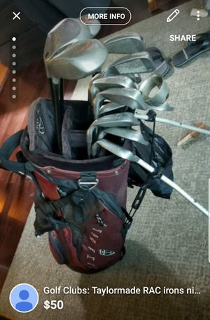 Taylormade RAC irons 4-9 + extra irons/driver with Nike Bag for Sale in Washington, DC