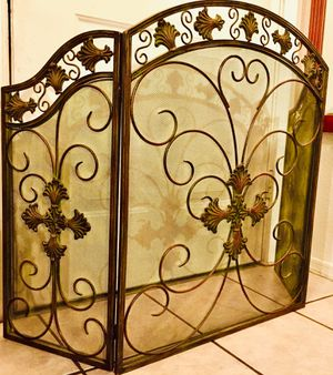 Beautiful decorated fireplace screen, metal art H32xL49(12+25+12) inch for Sale in Sun Lakes, AZ