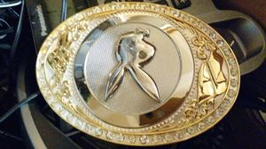 Belt buckle never used free shipping $30 for Sale in Plano, TX