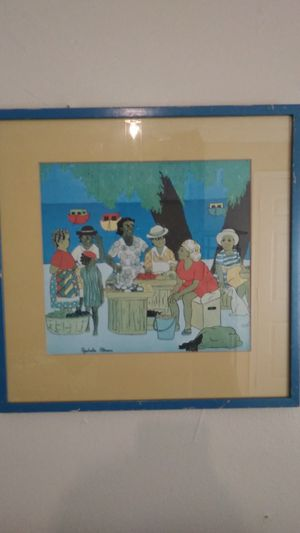 Framed Rachelle Altman Barbados, West Indies Art Print - 1980s, Rare, Vintage for Sale in Washington, DC