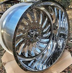 26x12 Chrome Wheels and tires set 35125026 for Sale in Phoenix,  AZ