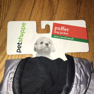 Petshappe Puffer Jacket Dog Coat XS Gray for Sale in French Creek, WV