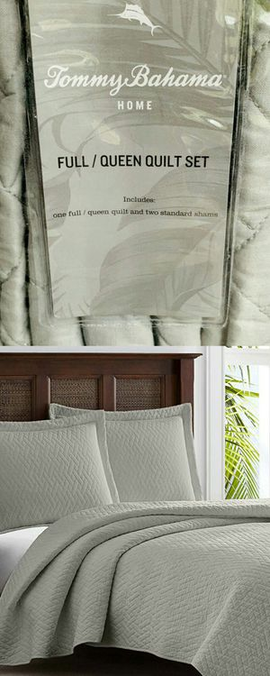 Tommy Bahama Queen Sz 100% Cotton Pelican Grey Quilt Set Brand New Never Opened for Sale in Boca Raton, FL