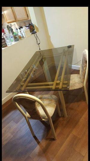 Glass Dining Table and 4 Chairs for Sale in Fontana, CA