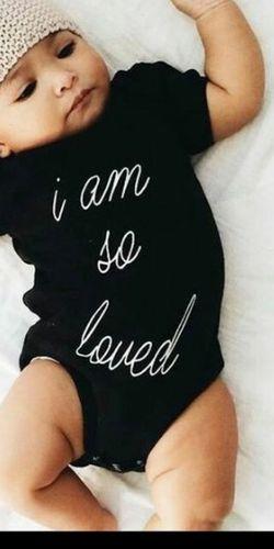"""I so Loved "" Black Onesie ⚫ for Sale in Whittier,  CA"