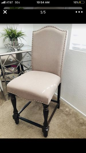 """(1) Taupe-Colored Barstool with studs 24"""" ONE ONLY for Sale in Las Vegas, NV"""