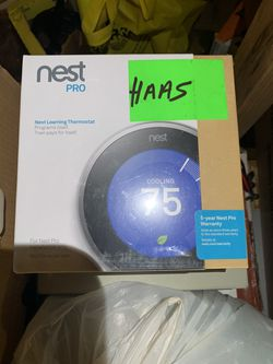 Nest Pro thermostat, New in wrapping never opened for Sale in Clifton,  NJ