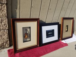 3 nice musician frames. Piano, violin and saxophone for Sale in Pomona, CA