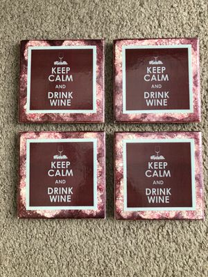 Keep Calm and Drink Wine coasters for Sale in Garner, NC