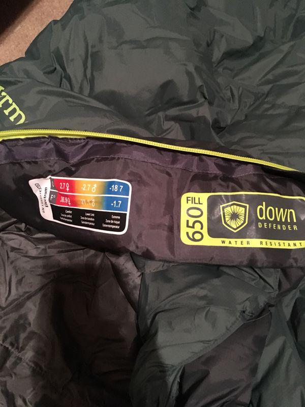 Marmot 30 degree sleeping bag