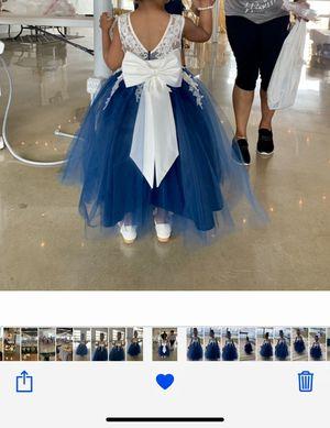 Custom Beautiful Flower Girl Dress (4/5T) for Sale in Manassas, VA