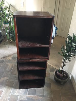 Two Dusty Bookshelves/ End Tables for Sale in Tracy, CA
