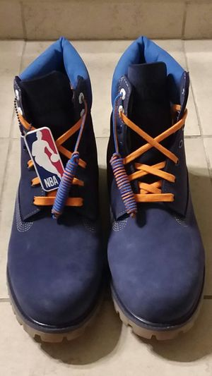 New York Knicks NBA Timberland Boots-Brand New-Size 12 for Sale in St. Petersburg, FL