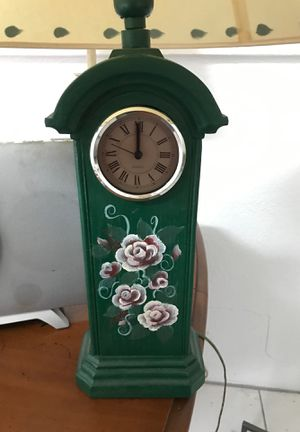 Matching pair of antique clock lamps for Sale in Largo, FL