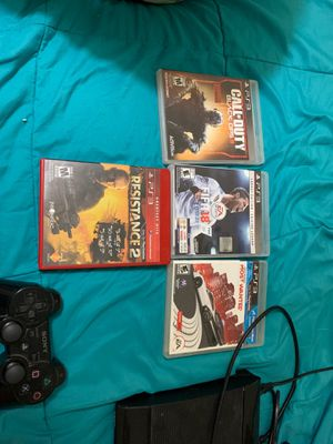 PS3 used working condition and games included good condition for Sale in Pembroke Pines, FL