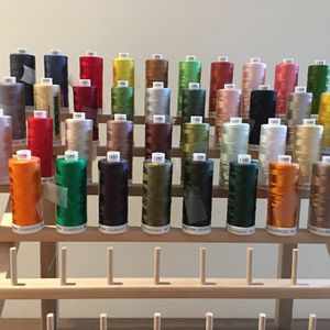 39 Spools Madeira Classic Rayon Embroidery Thread, Plus Rack for Sale in Chapel Hill, NC