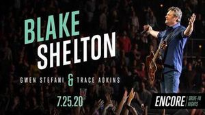 Drive in nights Blake Shelton Gwen Stefani Trace Adkins tickets for CAR for Sale in Ocala, FL