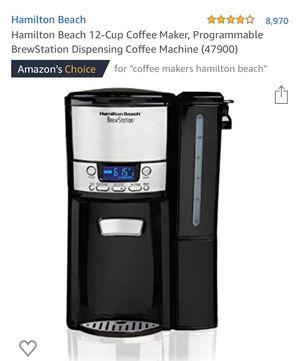 Hamilton beach coffee maker for Sale in Ontario, CA