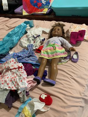 American doll with tons of clothes and shoes for Sale in Wendell, NC