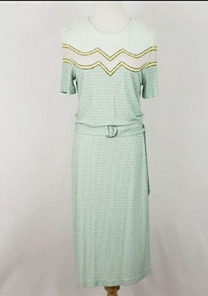 Tory Burch-Green Mosaic Viscose Dress, Size Large-LIKE NEW for Sale in Chula Vista, CA