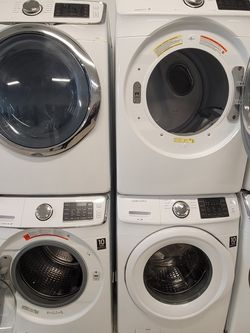 Samsung Front Load Washer And Electric Dryer Set's Used In Good Condition With 90day's Warranty for Sale in Washington,  DC