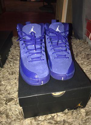 Air Jordan blue 12s Size 6 for Sale in Vallejo, CA