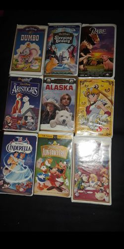 Disney classics 📼 vhs and even sailor moon for Sale in Hesperia,  CA