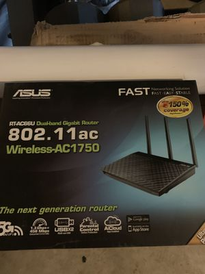 Asus RT-ACC66U dual-band gigabit router for Sale in Corona, CA