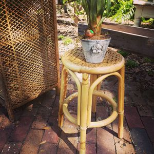 Bamboo rattan plant stand for Sale in Winter Garden, FL