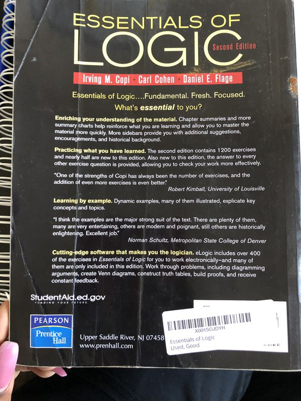 Essentials of Logic by Carl Cohen, Irving M. Copi and Daniel E. Flage