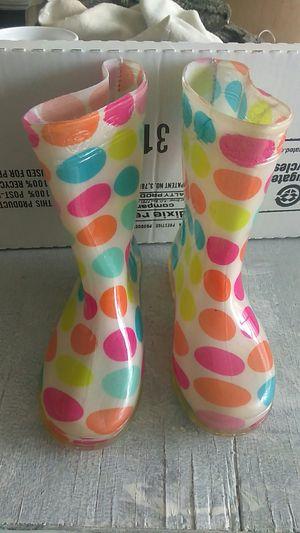 Rain boots girls ,small. for Sale in San Bernardino, CA