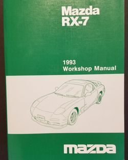1993 Mazda RX-7 Factory Workshop Manual FSM Genuine FD Service for Sale in Rockwell,  NC