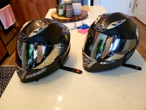 "2 Bilt Helmets (size small) with mirror visor comes with extra clear visor $75 ""EACH"" for Sale in Fairfax, VA"