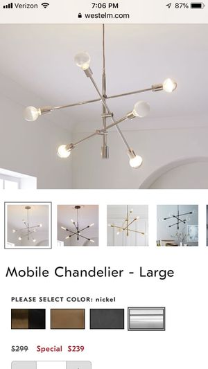 West Elm Large Chandelier for Sale in Alexandria, VA