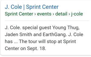 3 JCole concert tickets for Sale in Wichita, KS