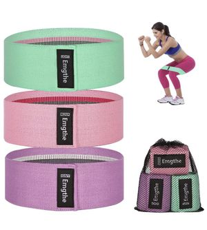 Resistance Bands for Legs and Butt, Fabirc Workout Bands, Non-Slip Elastic Exercise Booty Bands, Wide Sports Fitness Band 3 Set Training for Sale in El Cajon, CA